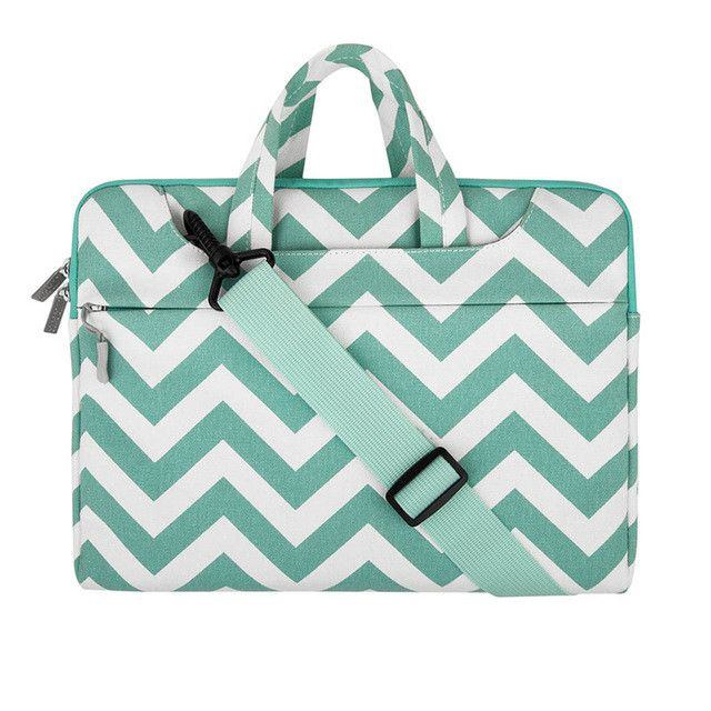 MOSISO Canvas Chevon Women Laptop Shoulder Bag Case For Macbook Air Pro 11.6 13.3 15.6inch Asus Acer Notebook Handbag Briefcase