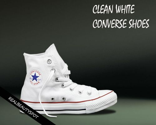 how to use bleach to clean white shoes