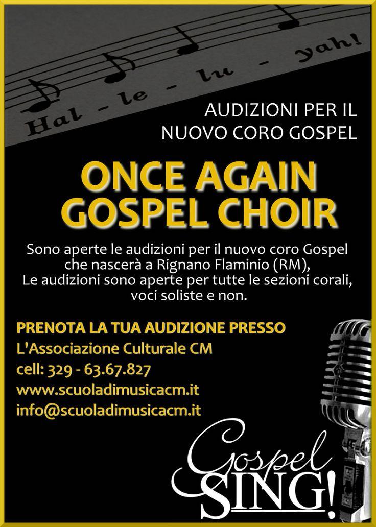 audizioni nuovo coro gospel