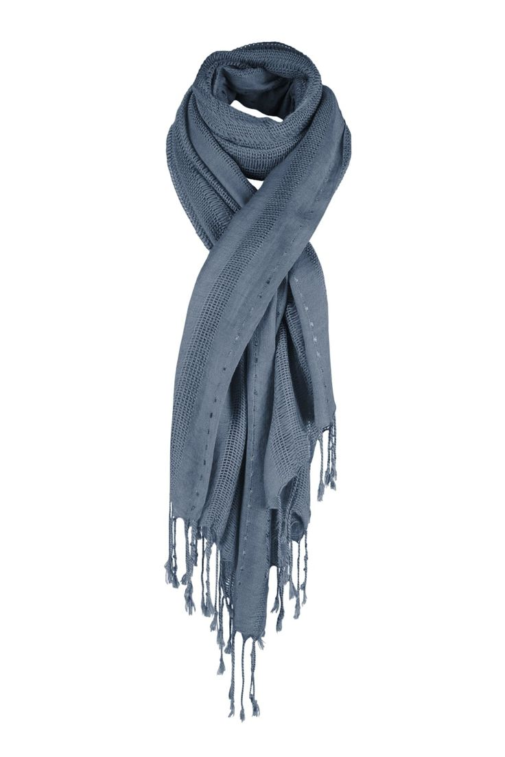 Stitch Interest Scarf   http://www.mistral-online.com/accessories-c10/scarves-c45/all-the-stitches-scarf-with-tassles-grey-p23250?nosto=nosto-page-product2