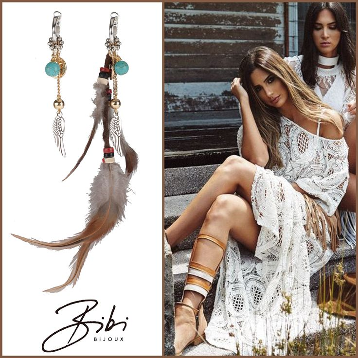 Beauty earrings with feathers. You can also take off the feather. Made with silver- and goldplated elements.   Now only 69,00.   Shop now: http://bibibijoux.com/index.php/bibibijouxwebstore/earrings/06618.html  Bibi Bijoux​ #handmade #bibi #bijoux #bibibijoux #lifestyle #fashion #swarovski #netherlands #scheveningen #sunnyweather