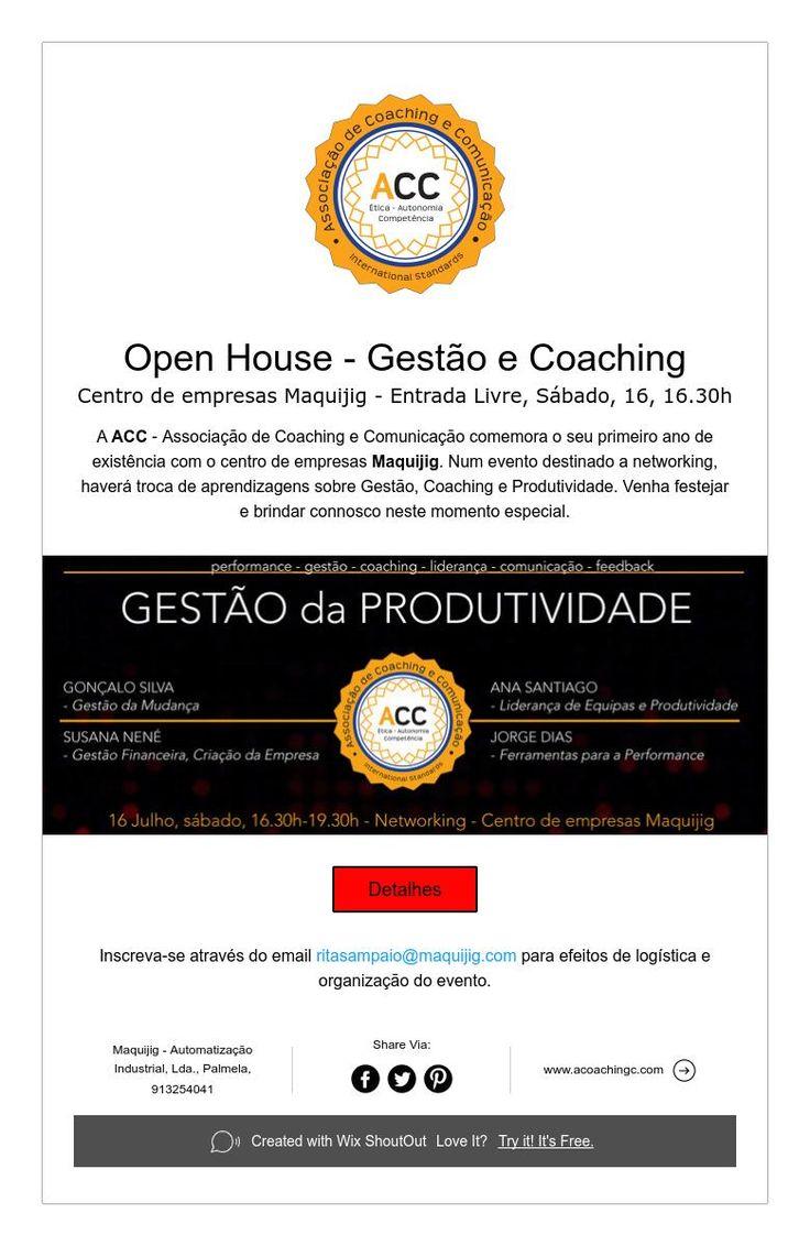 Open House -Gestão, Produtividade e Coaching