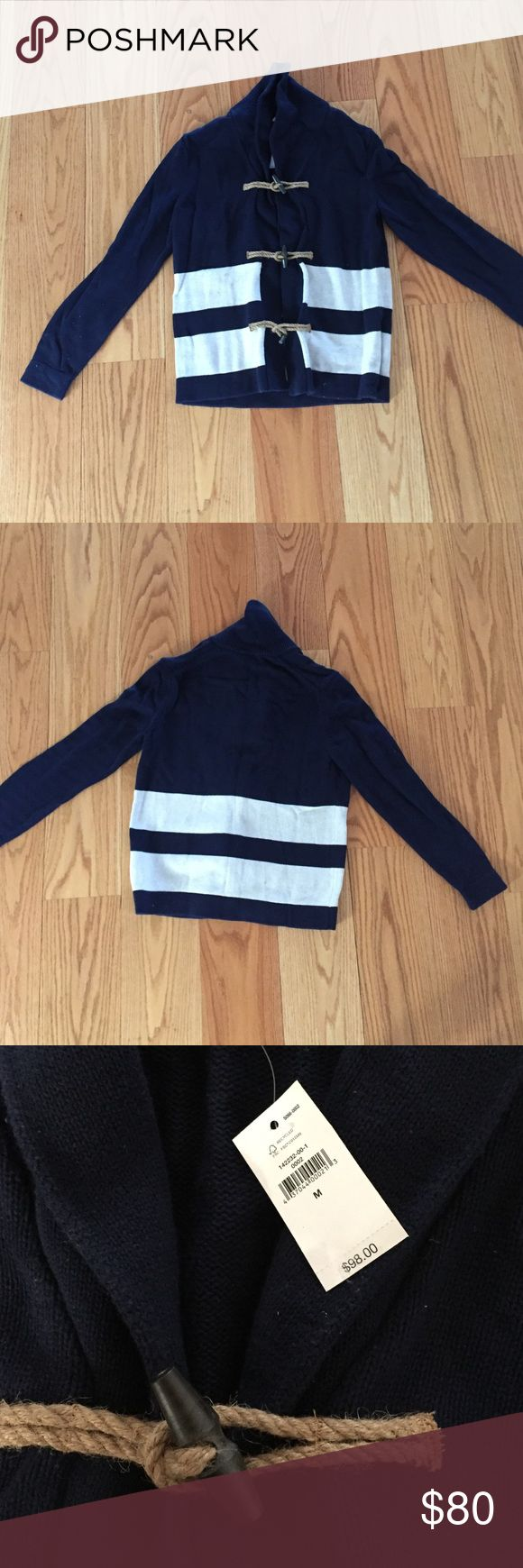 GAP Nautical Cardigan 100% cotton Navy Blue and White Striped Nautical Cardigan NEVER WORN GAP Sweaters Cardigans
