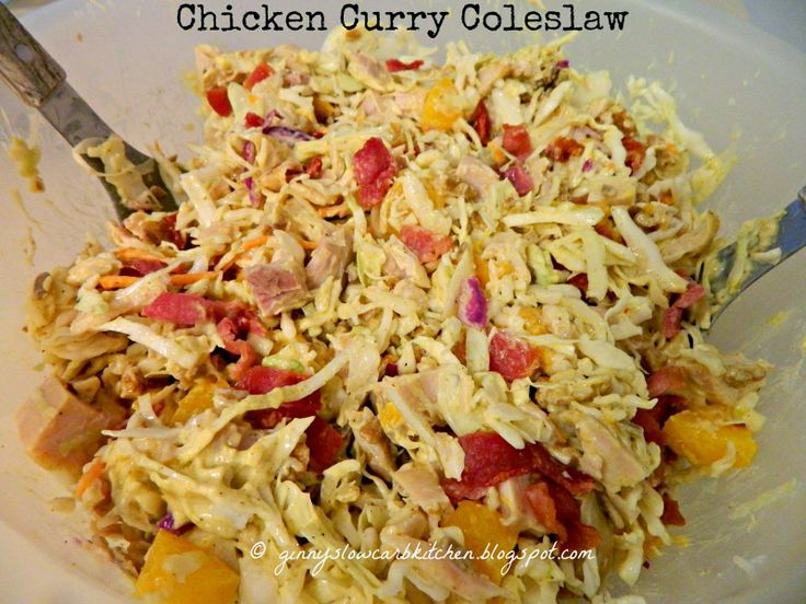 CURRY CHICKEN COLESLAW