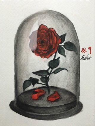 Resultado De Imagem Para Beauty And The Beast Rose Drawing