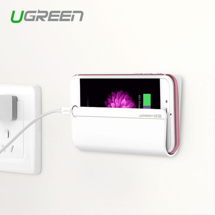 ホルダースタンド、ugreenユニバーサル壁の電話スタンド携帯電話ホルダー用iphone ipad miniタブレットsamsung xiaomi電話スタンドマウント