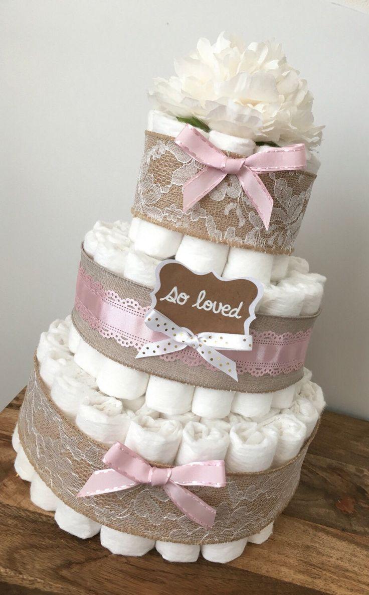 Diaper Cake Ideas For A Girl : Best 20+ Girl diaper cakes ideas on Pinterest Nappy cake ...