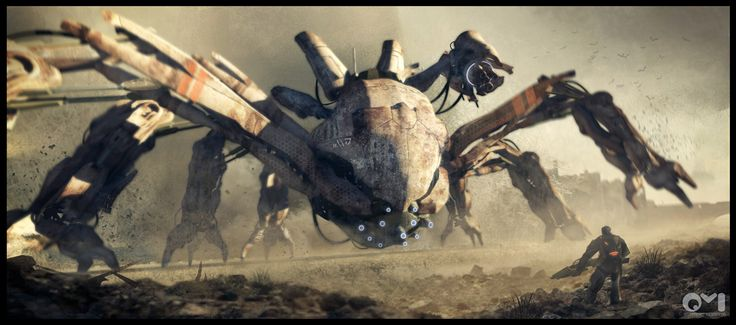 Spider Robot Picture  (2d, sci-fi, robot)