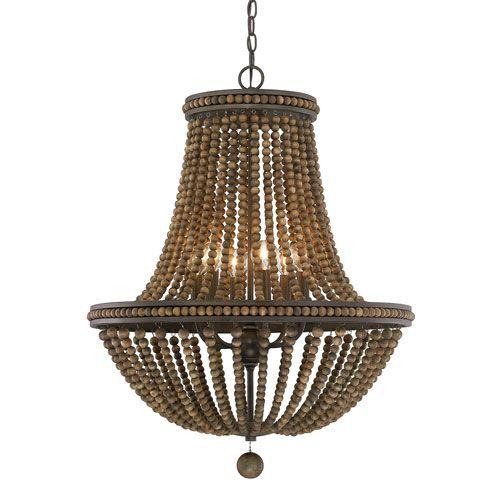 17 best ideas about wood bead chandelier on pinterest. Black Bedroom Furniture Sets. Home Design Ideas