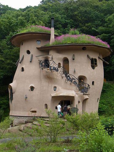Looks like a fairytale house with a rooftop garden.