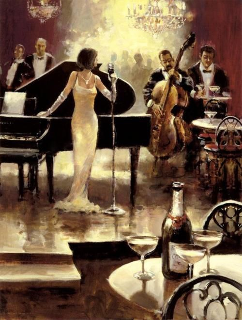 jazz bar and wine night