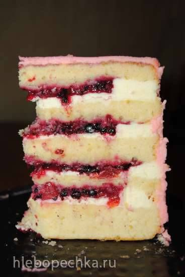 """Торт """"Улыбка"""" (лимонно-ягодный)"""