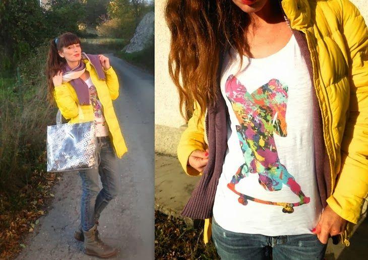 #yellow #sporty #tshirt #style #girl #colors #colorful #fashion #streetstyle #streetwear #fashionblogger #fashionblog #graphic #bonjourfinesse bonjour finesse tshirt felpe fashion brand idea outfit sporty piumino giallo, amanda marzolini, the fashionamy blog, fashion...