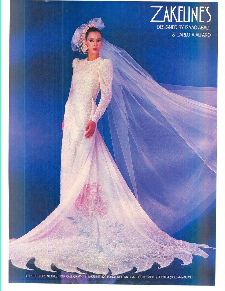 151 best 1980s wedding dresses images on Pinterest | 1980s wedding ...