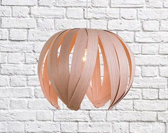 Ti-Fleur/ Wood veneer lamp / Oak