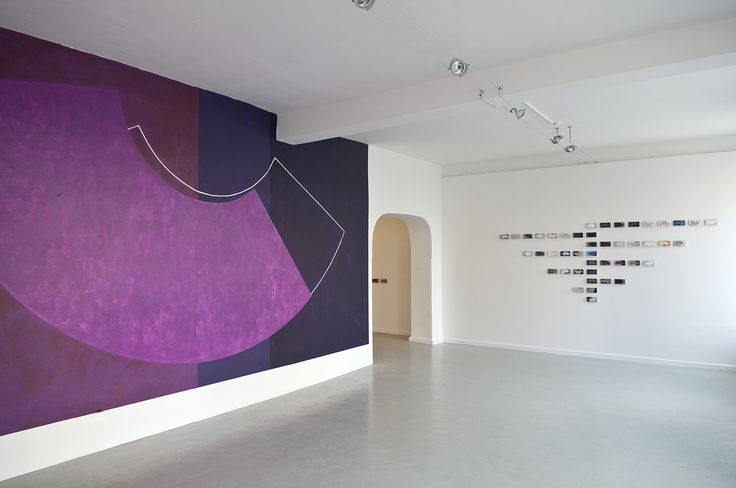 Denise Green  |  Neue Galerie im Hoehmannhaus, Augsburg, Germany, 2011 'Elle' (wall painting) and 'After Manet' (45 panels)