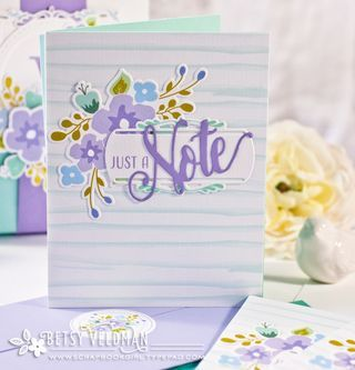 Just A Note Card by Betsy Veldman for Papertrey Ink (April 2016)