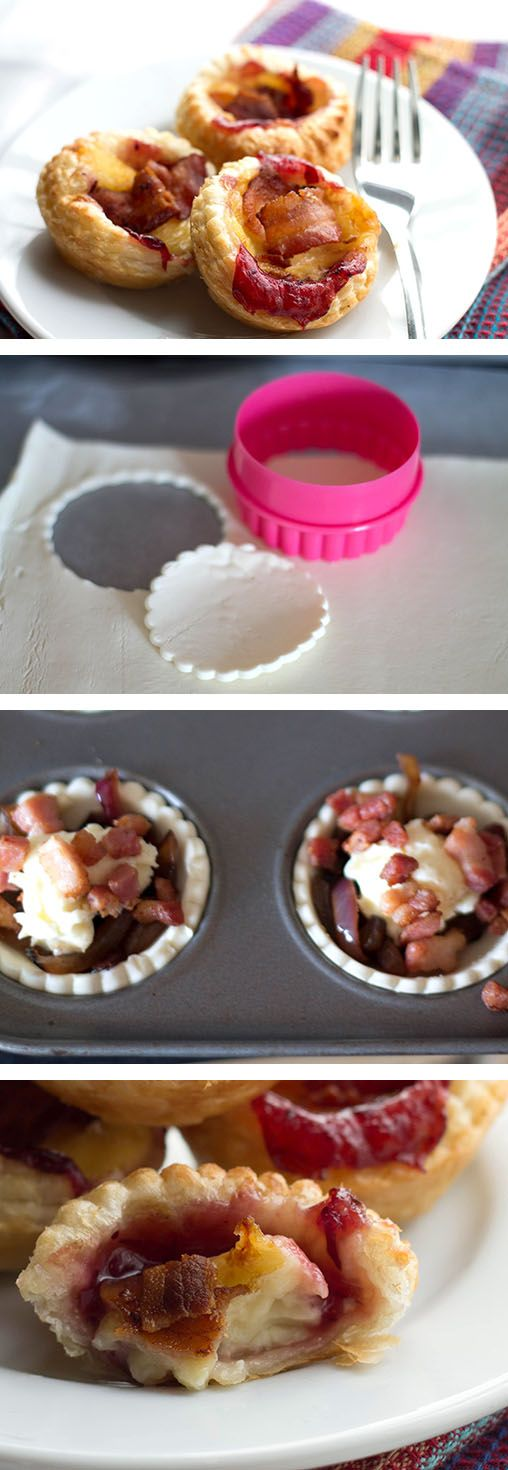 Cranberry & Brie Tartlets with Bacon & Red Onion