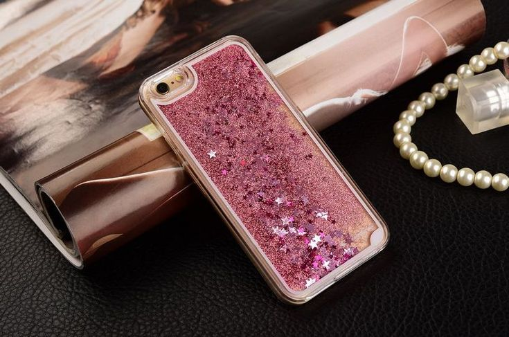 Fashion Liquid Glitter meteor sand sequins Colorful Dynamic Transparent Hard Mobile Phone cases For iphone4s/5 SE/6 6s/6Plus - free shipping worldwide