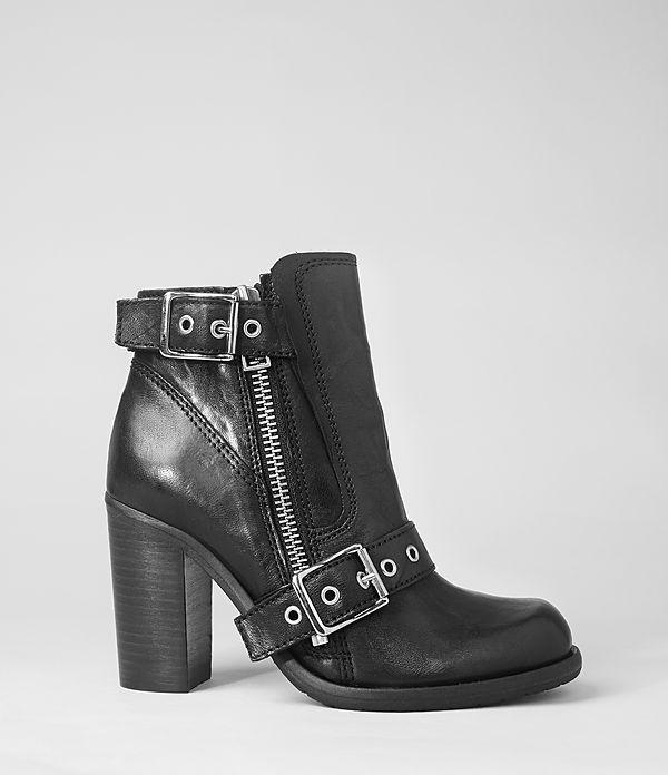 Womens New Jules Heel Boot (Black) | ALLSAINTS.com