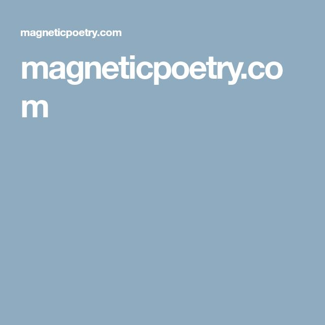 magneticpoetry.com