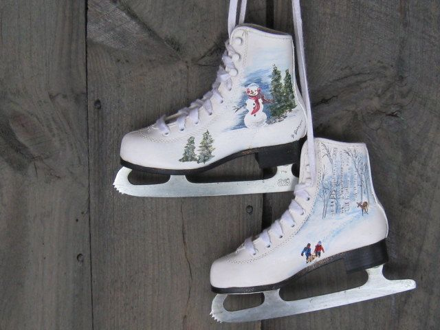 Hand-Painted Ice Skates                                                                                                                                                                                 More