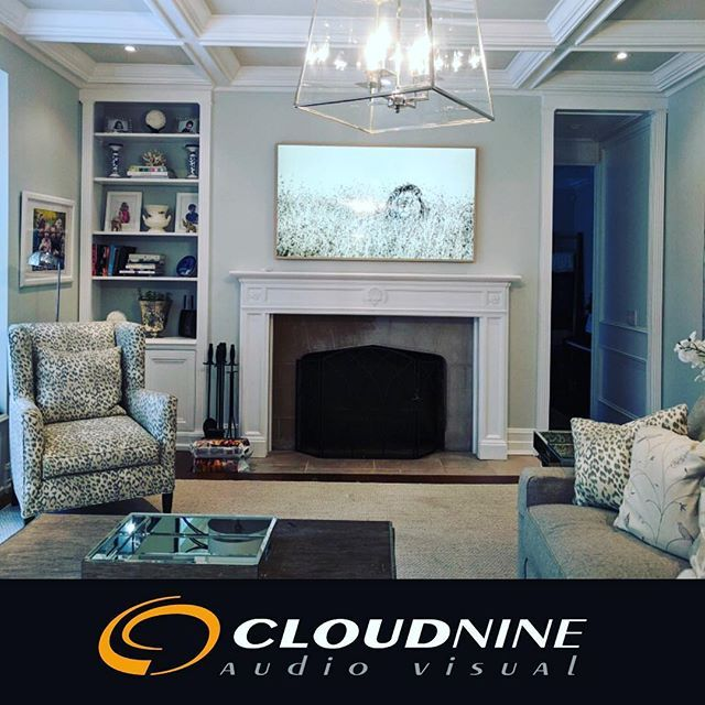 Remarkable 65 Frame Tv Retrofit Project In A Toronto Rosedale Home Home Interior And Landscaping Ologienasavecom