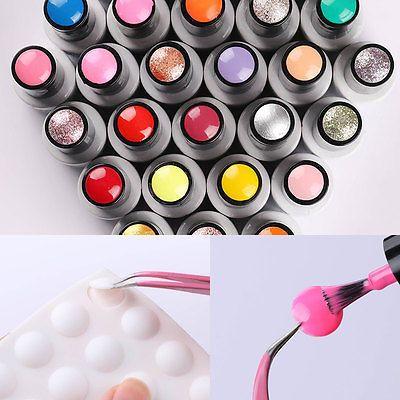 Born Pretty Adhesivo Etiqueta Botón De Color Pantalla de Esmalte Gel UV para uñas
