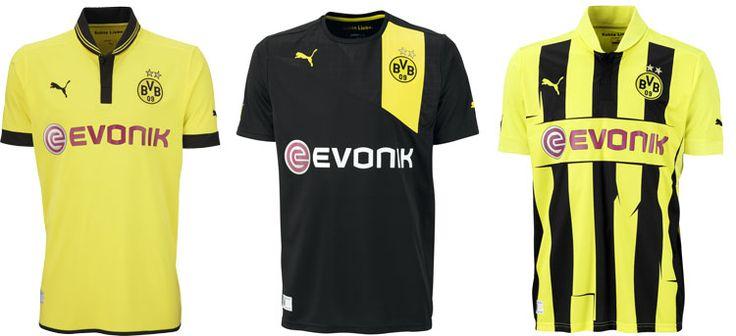 Die neue BVB Trikot Kollektion für die Bundesliga Saison 2012/2013. Finde das neue Puma Borussia Dortmund Trikot jetzt endlich auch online