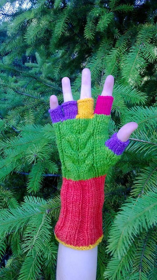 guantes color sin dedos