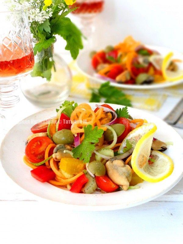 Полезный овощной салат с мидиями. Диетические и полезные салаты - рецепты салатов в кулинарном блоге Татьяны М.