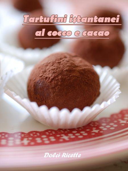 Tartufini istantanei al cocco e cacao. #irishpotatoes #cocco