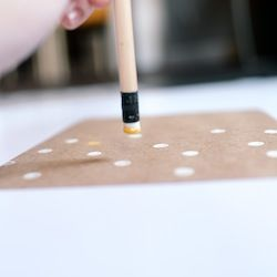 Use this easy method to create a perfect polka dot greeting card!
