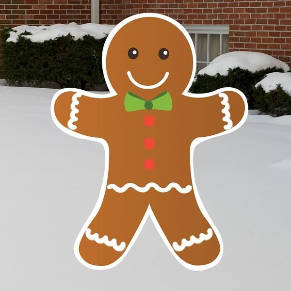 Choose Our Gingerbread Man Yard Sign For A Fun Outdoor Holiday Decoration This Festiv Christmas Party Themes Holiday Party Themes Christmas Yard Decorations