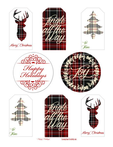 Best 25 holiday gift tags ideas on pinterest christmas tag diy free printable holiday gift tags christmas plaid edition solutioingenieria