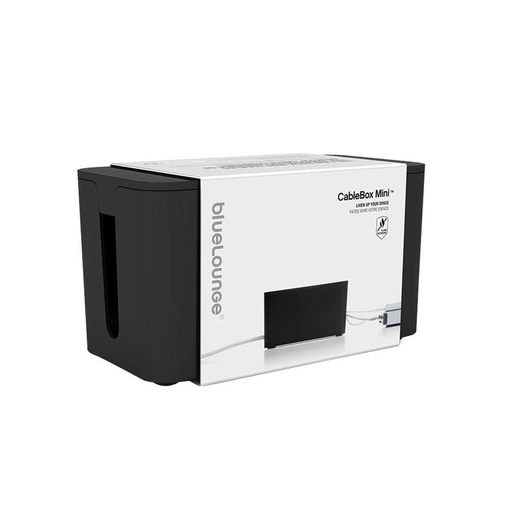 CableBox Mini with Surge Protector, Black