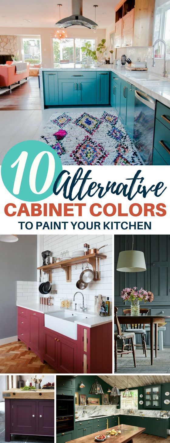 10 Alternative Kitchen Cabinet Colors Everyone\'s Loving | Pinterest