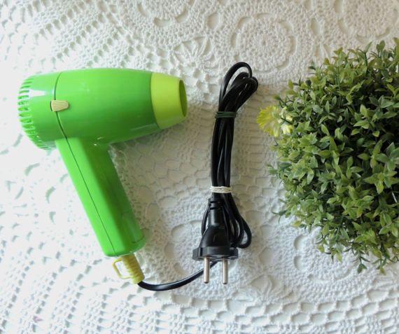 Vintage Hair Dryer Drier Green Hairdryer Vintage Fashion