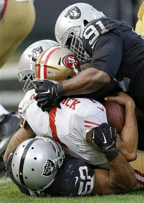 Oakland Raiders Defense Sack Kapernick
