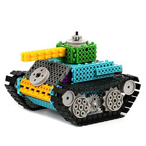 Remote Control Building Kits for Kids  Remote Control Tank Construction Set w/ 145PCS Build Your Own Remote Control Robot Kits