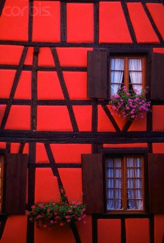 Kleurige vakwerkhuizen #Alsace, France