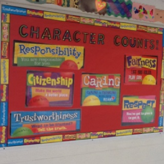Character Education Bulletin board I made at my school.