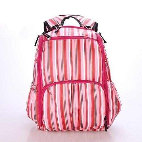 Oferta: 16.41€. Comprar Ofertas de Mochila Bolsa De Pañales Multifuncional Viajes Momia Impermeable Rayado Para Mujer Mamá - Rosa, 117cm barato. ¡Mira las ofertas!