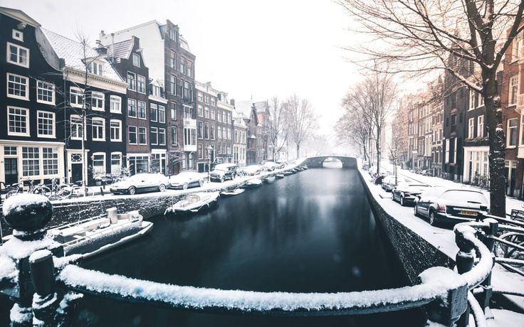 Amsterdam Canals on Snow