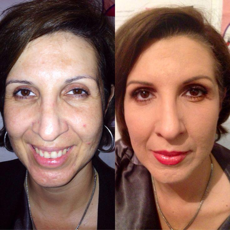 Sin maquillaje , Con maquillaje Utilizando productos Mary Kay Aparta tu cita www.marykay.
