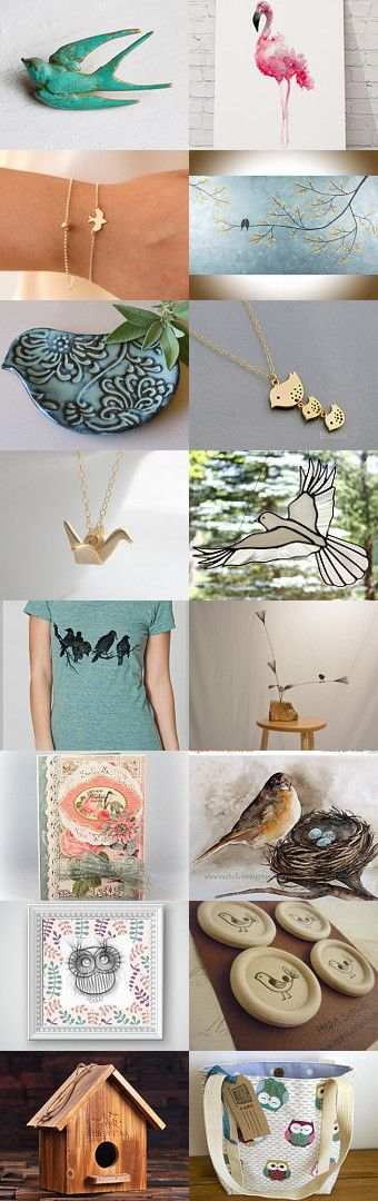 Birds! by Nicole Fischer on Etsy--Pinned+with+TreasuryPin.com