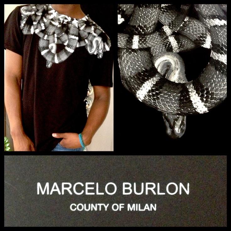 Marcelo Burlon Limited Edition Tee The Black Snakes