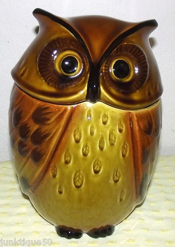"""Nice Vintage Rare Metlox Poppytrail Owl Cookie Jar California 10""""x6.75""""x6.25"""" A+   I have this and have owned it for several years...shipping it to my daughter who recently moved to California...it originally came from California ...only fitting that it goes back"""
