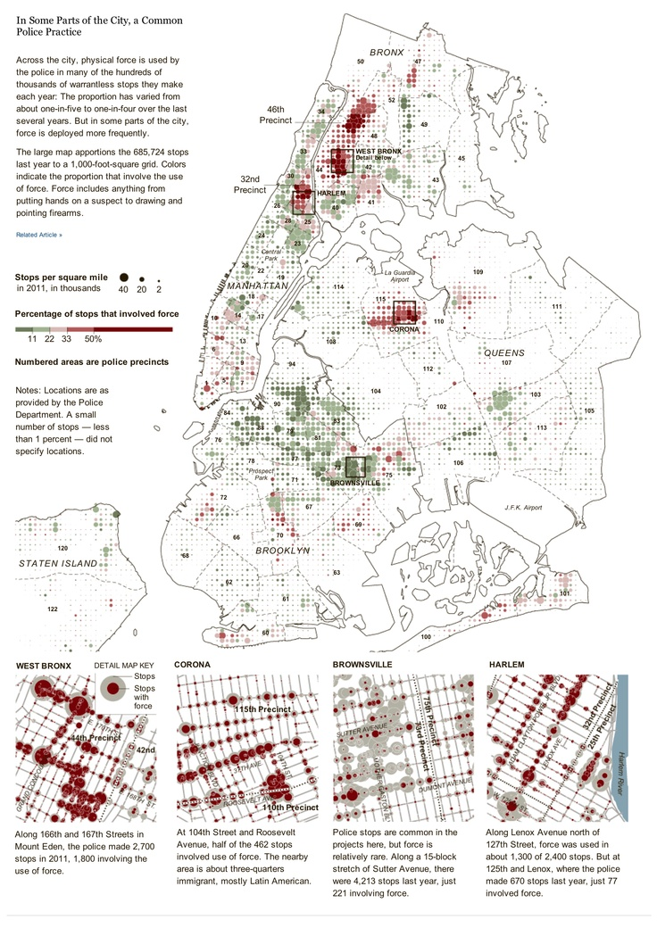 In Some Parts of the City, a Common Police Practice by The New York Times