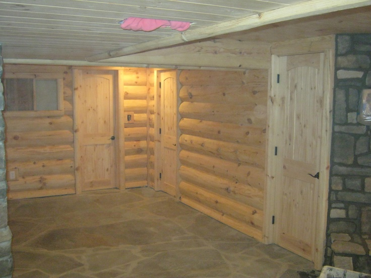 Log Cabin Basement Done By My Husband And His Partner